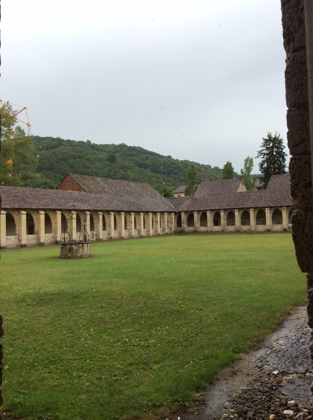 This is one view of the cloisters.
