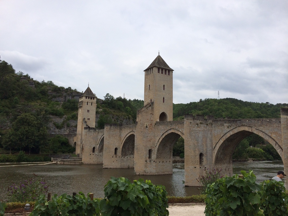 This bridge, the Valentre Bridge, is from the 14th century.