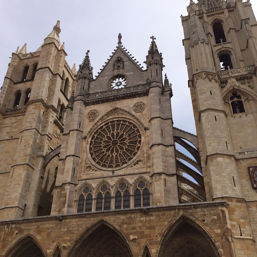 This is one shot of the exterior of the cathedral in Burgos.
