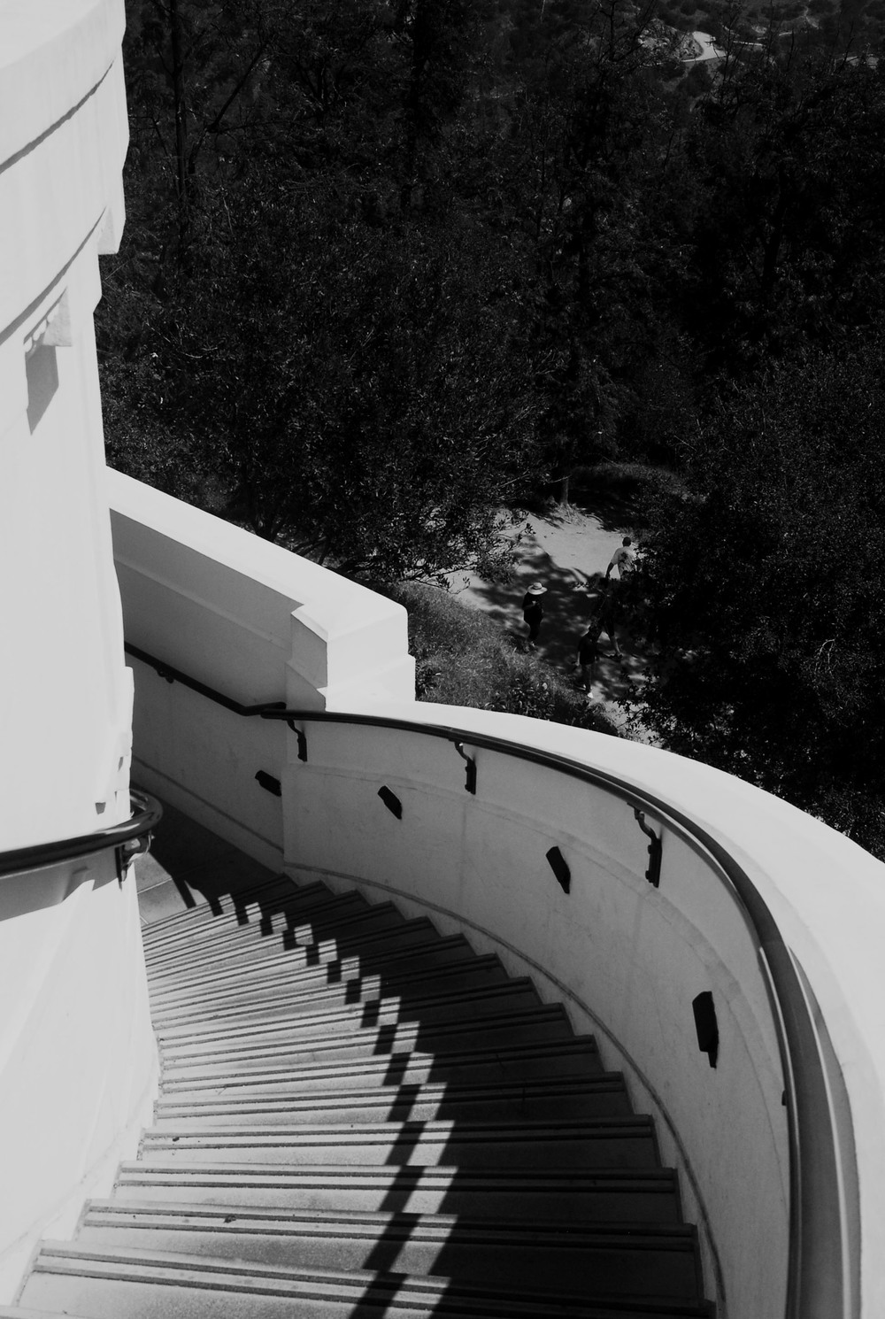 Griffith Observatory_BW Stairwell.jpg