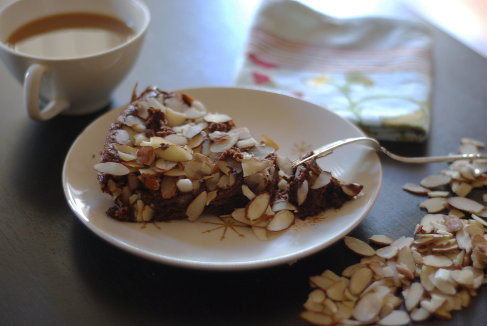 Slice of almond choc gluten-free cake.jpg