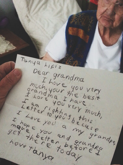 Letter from me to my grandmother.