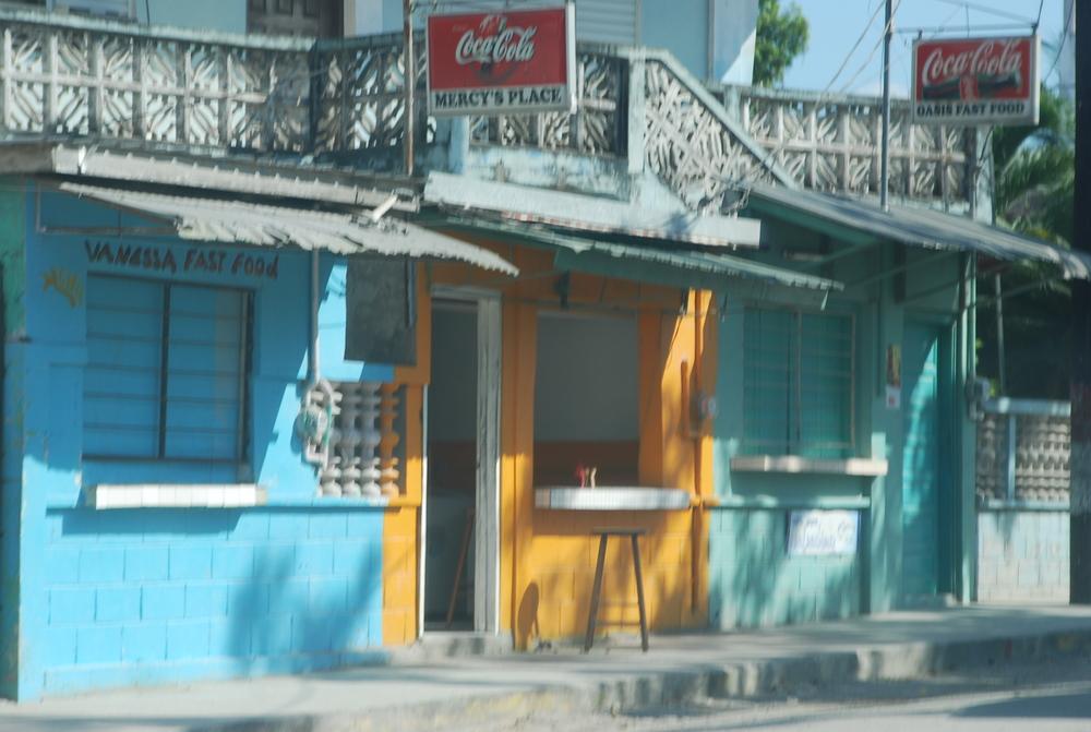 Orange Walk Town. Taco Stand.
