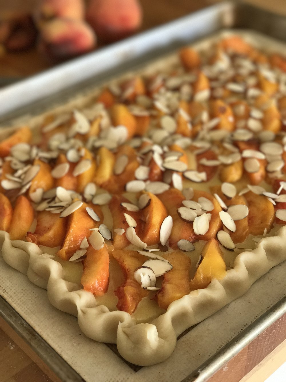 Raw Peach Almond Cream Tart_tanyaponce