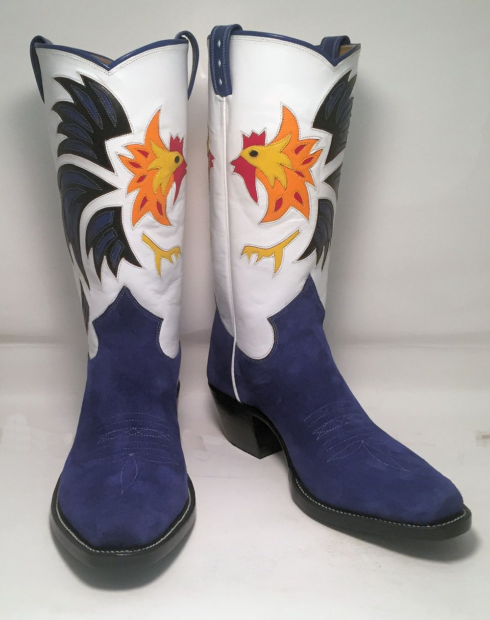 Blue Pig and Kangaroo Rooster Boot