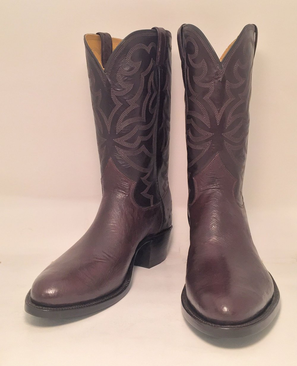 Smooth Ostrich Cowboy Boot