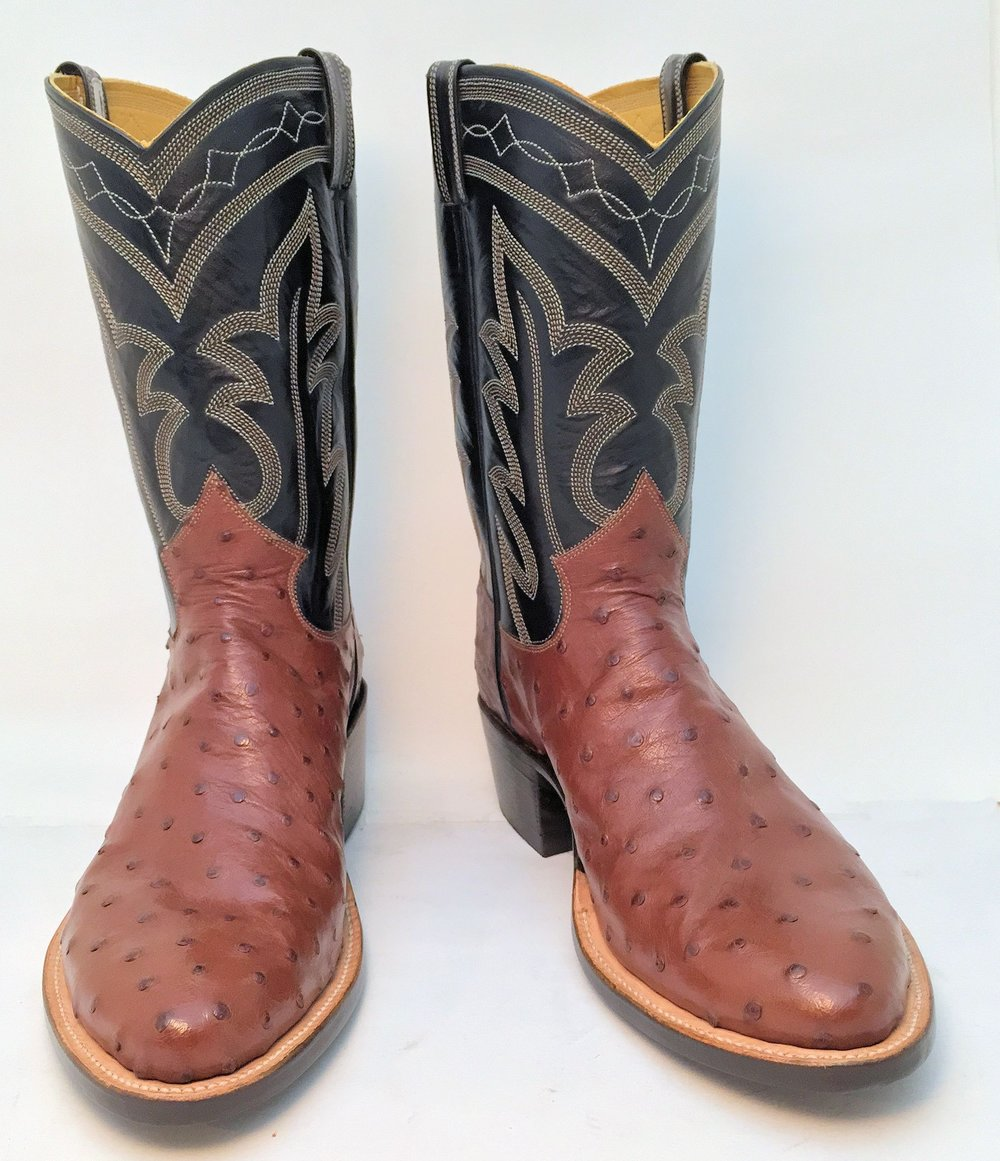 Ostrich and Kangaroo PeeWee Cowboy Boot
