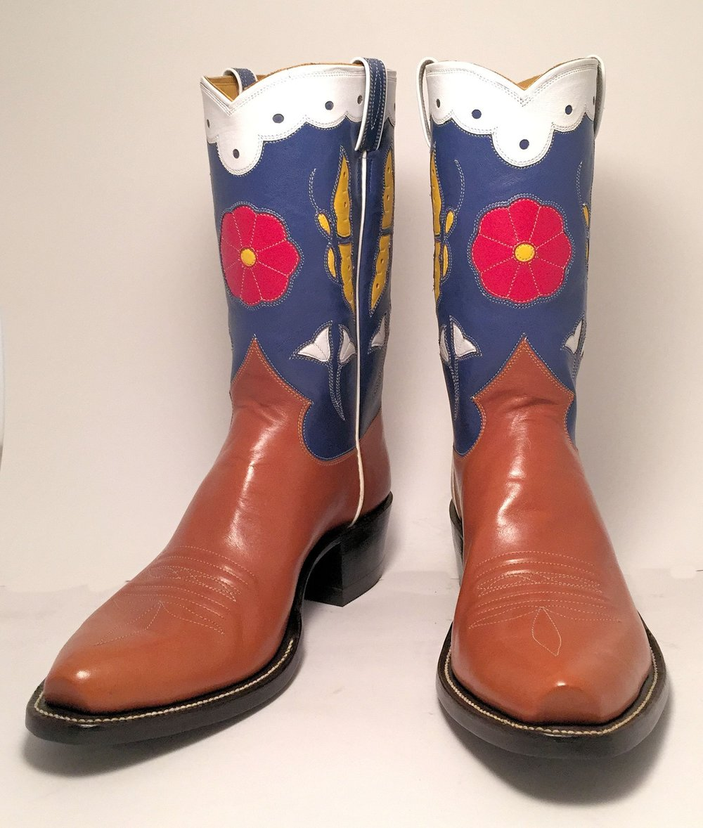 Vintage Butterfly Cowboy Boots