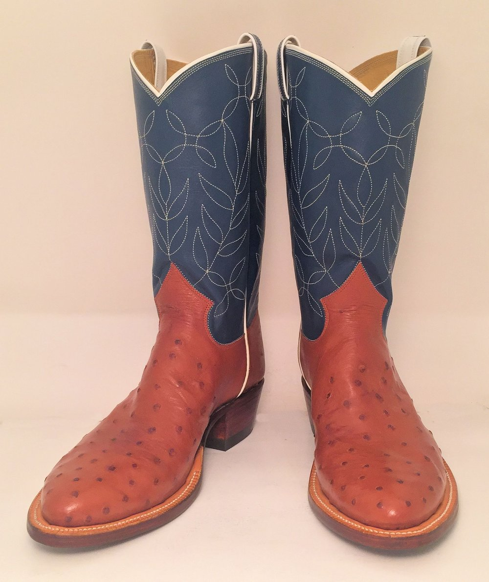 One row stitched cowboy boot