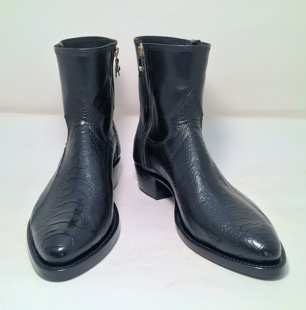 Mens side zipper boot
