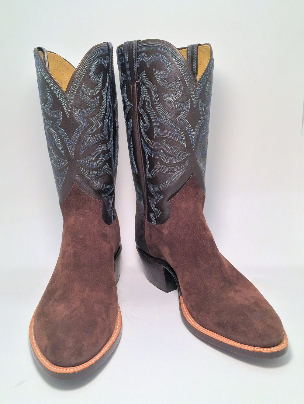Handmade Rough Out Pig Working Cowboy Boot