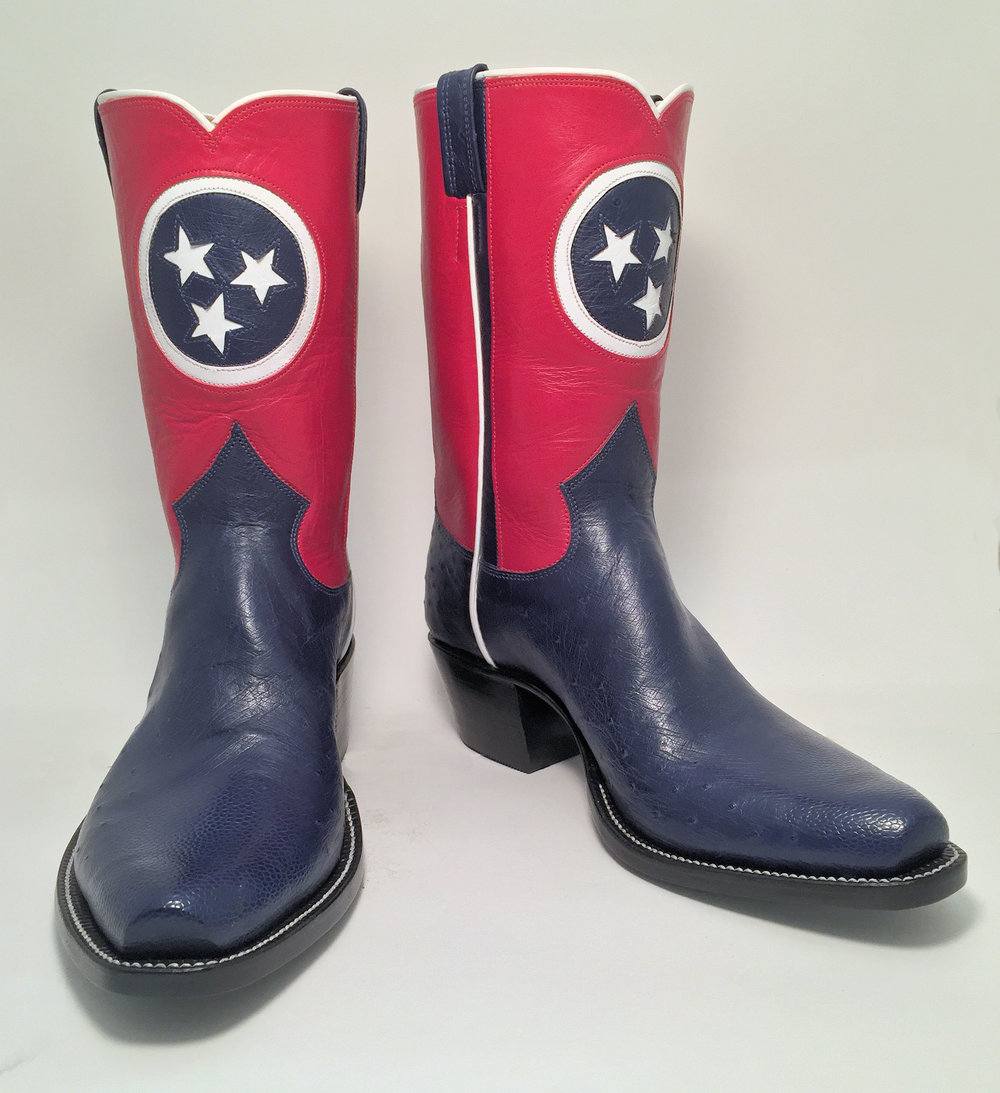 Tennessee Flag Cowboy Boot
