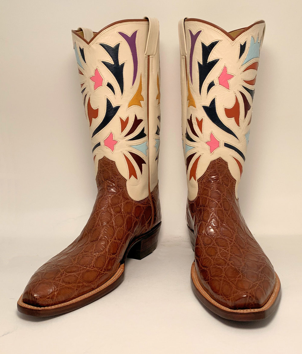 Vintage Inlay Cowboy Boot