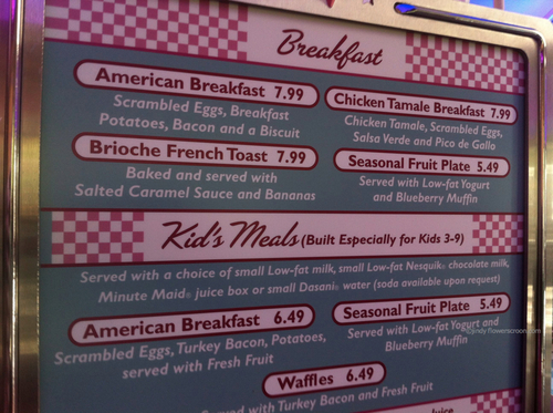 Private breakfast at Flo's V8 Cafe