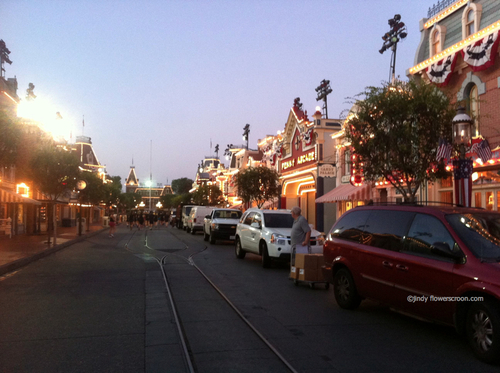 Leaving Disneyland and making our way towards California Adventure