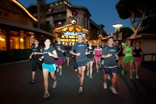 Running thru DTD. I am on the right behind Team Sparkle's Tink.