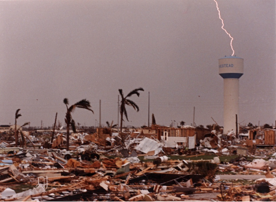This is my home after Hurricane Andrew: A category 5 hurricane with 165mph winds.