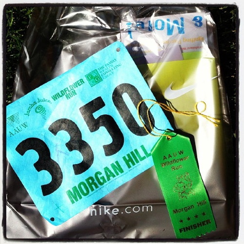 Bib, ribbon & goodie bag