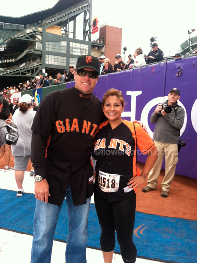 A dream come true - meeting my favorite SF Giant!