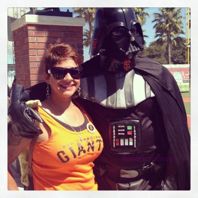 Vader loves baseball