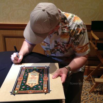 Jeremy signing
