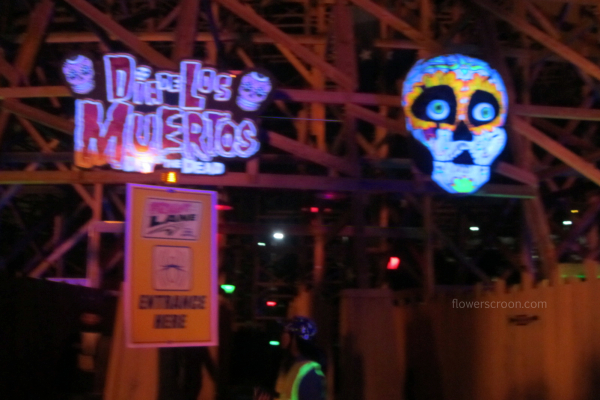 Dia de Los Muertos themed haunted house