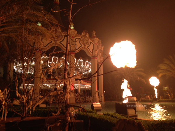 Dramatic flames & scary decorations