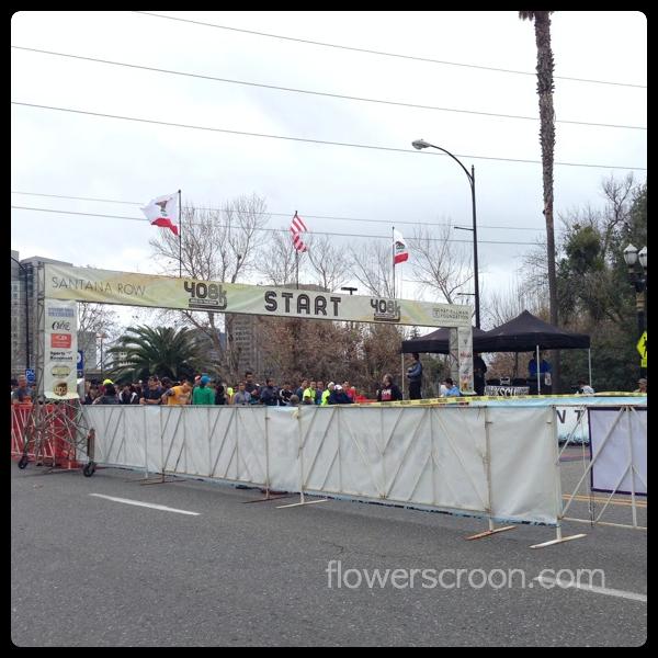 Start line on Santa Clara St