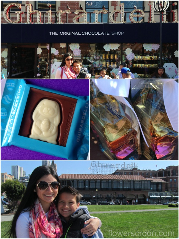 Beautiful day for chocolate at Ghirardelli Square
