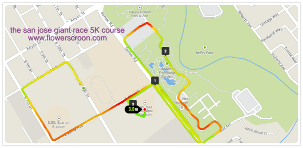 San Jose Giants 5K Course