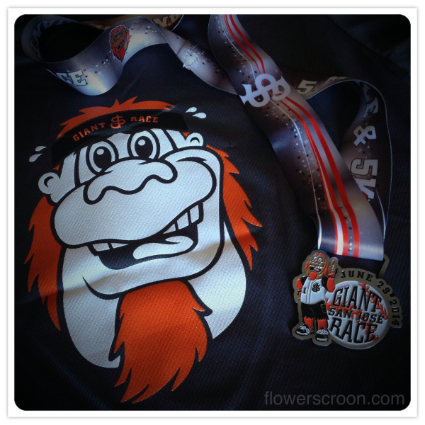 2014 San Jose Giant Race shirt and medal