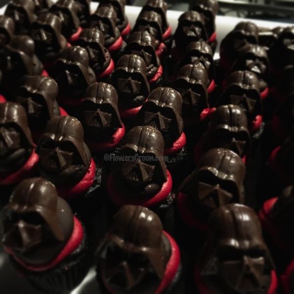Mini Darth Vader Cupcakes
