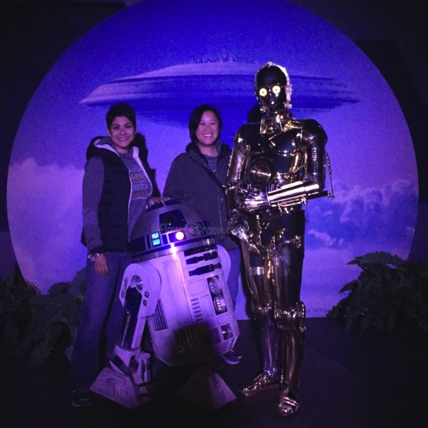 Me, Christine, R2-D2 and C-3PO