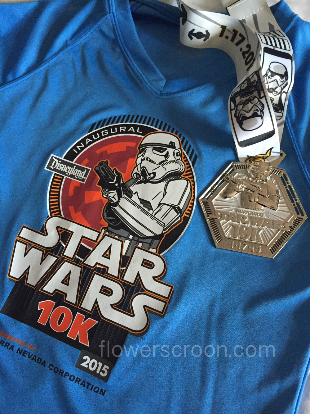 rundisney star wars 10k finisher medal shirt