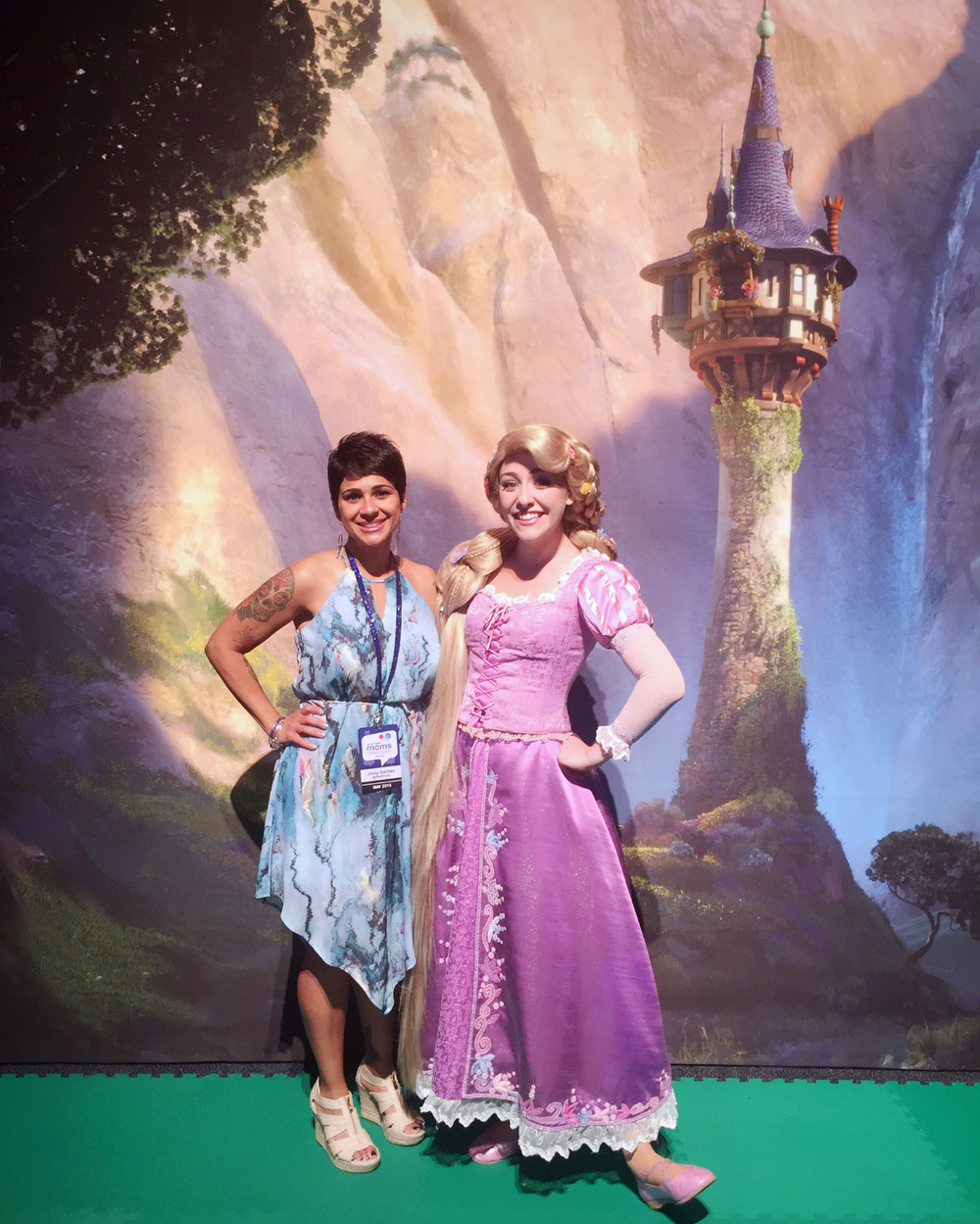 Rapunzel and I at the welcome reception