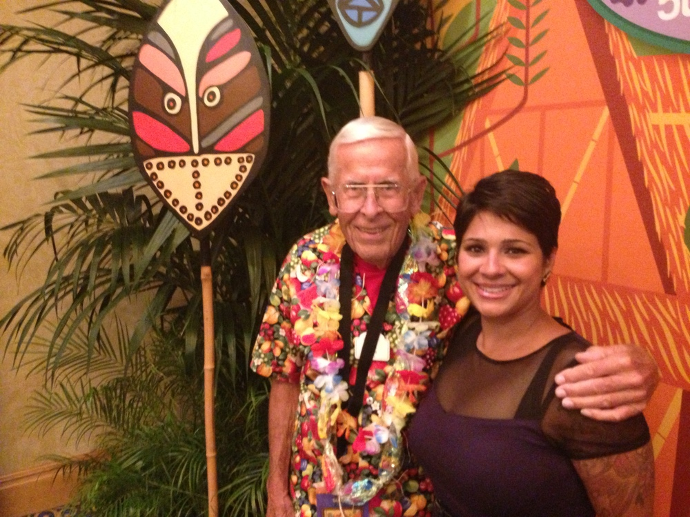 Me and Disney Legend Bob Gurr 2013