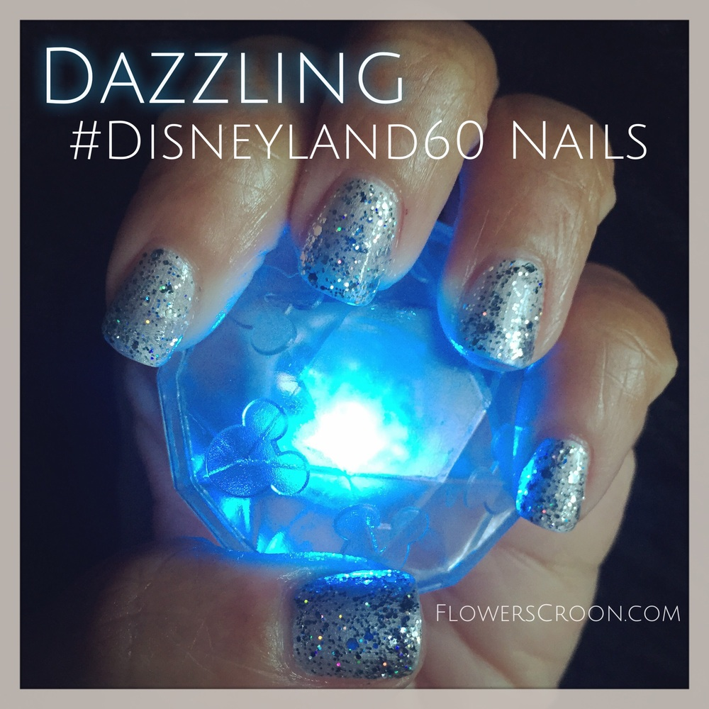 Get disneyland diamond celebration nails with a gel manicure disneyland nails manicure glitterg prinsesfo Gallery