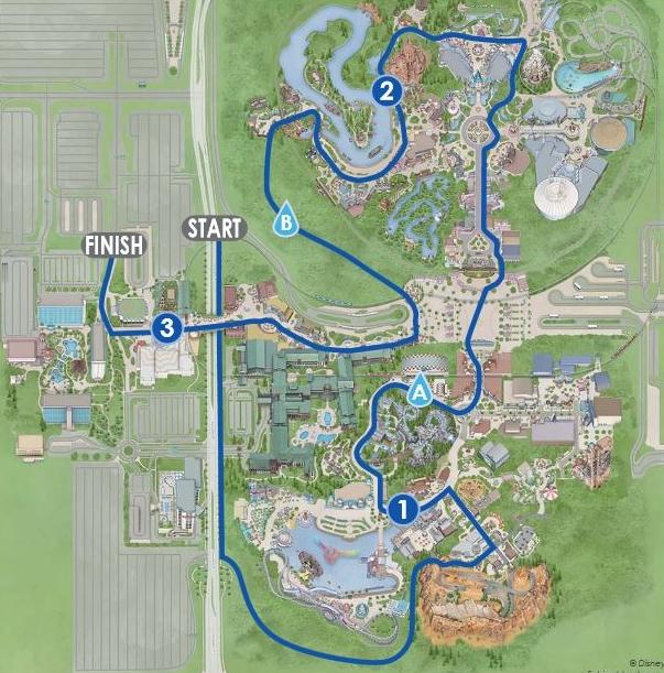 Course Map Photo: Disney