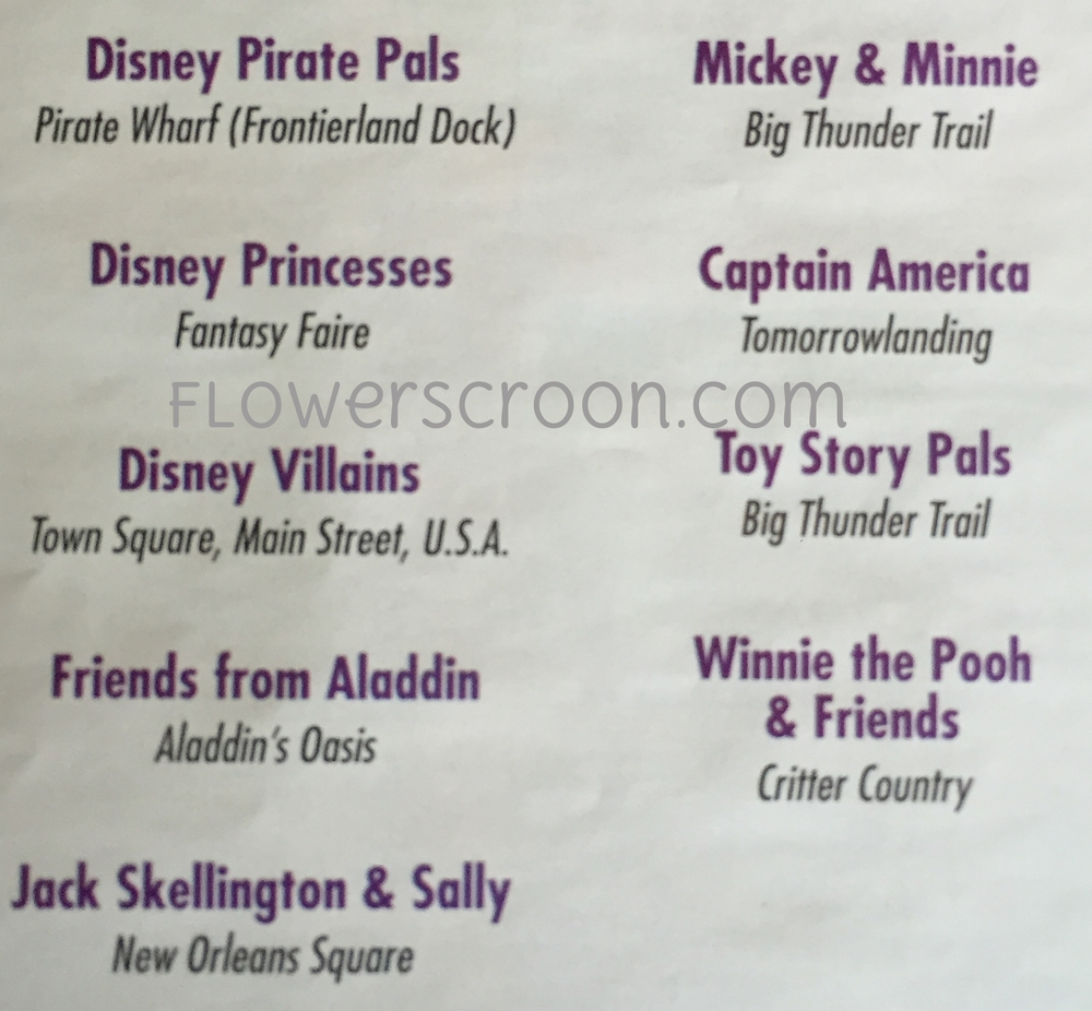 Mickey's Halloween Party Character Locations