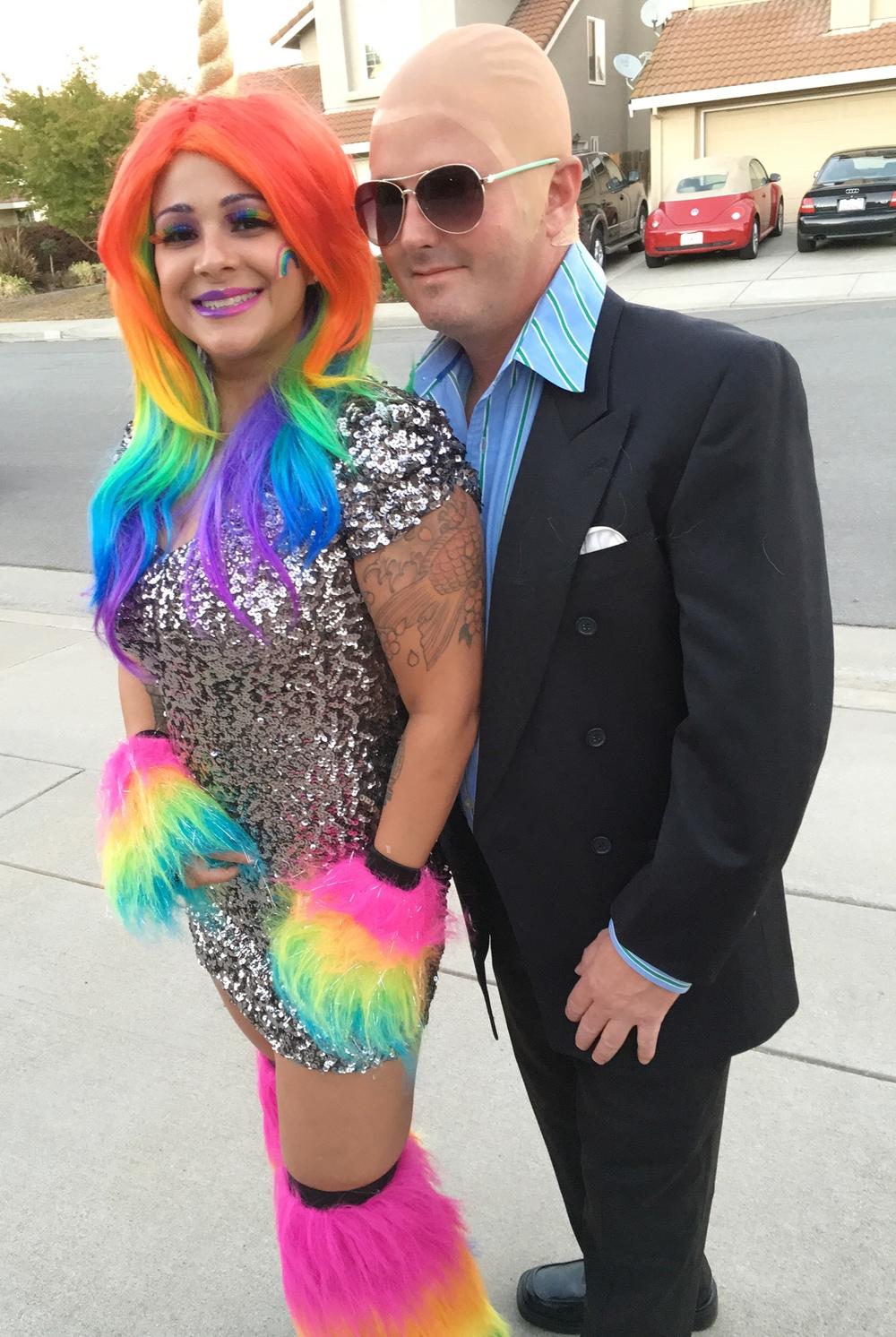 Unicorn and Pitbull, Halloween 2015