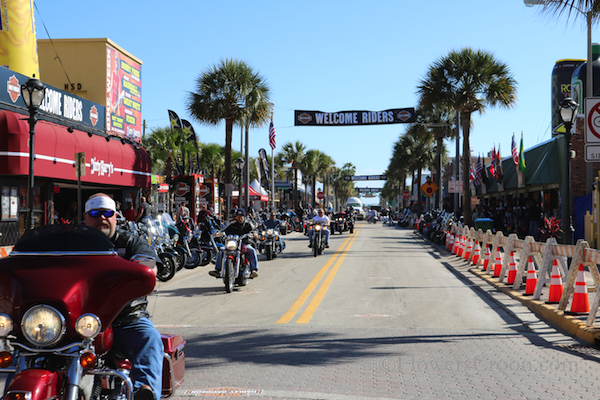 Main Street, Daytona Beach During Bike Week