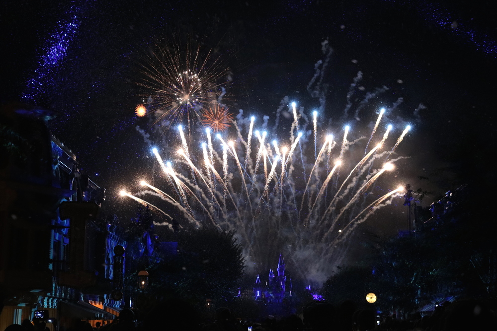 "From the ""Frozen"" segment of Disneyland Forever fireworks July 2016"