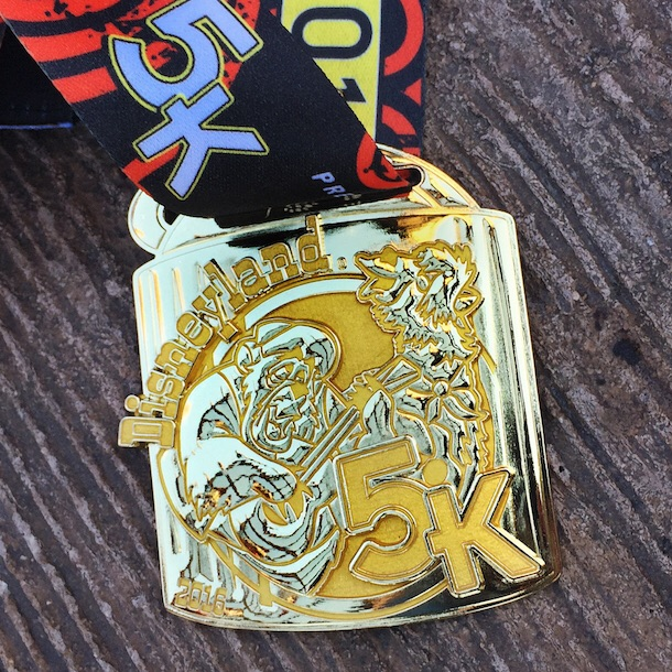 Disneyland 5K medal. Photo: runDisney