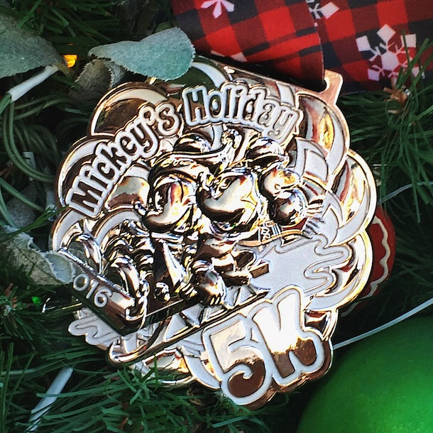 Mickey's Holiday 5K medal. Photo: runDisney