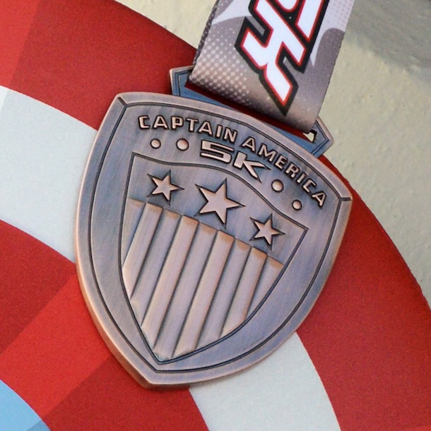 Caotain America 5K medal. Photo: runDisney