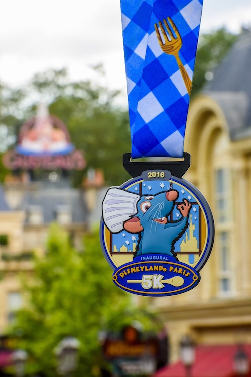 Disneyland Paris 5K medal. Photo: runDisney