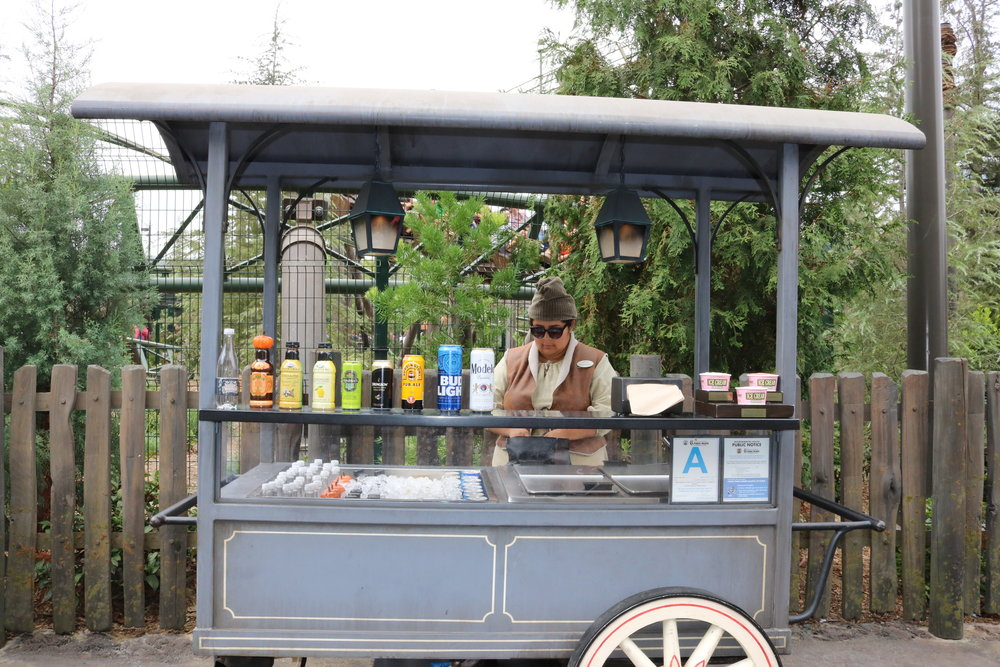 Smaller cart near the Forbidden Journey exit