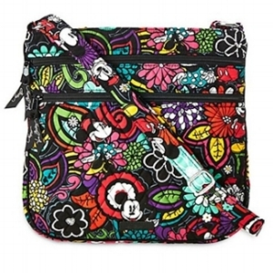 Vera Bradley Magical Blooms Triple Zip Hipster Disney Mickey .jpg