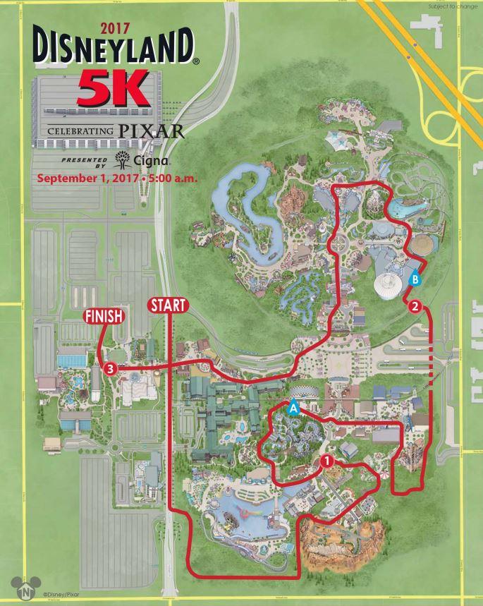 Disneyland 5K Course
