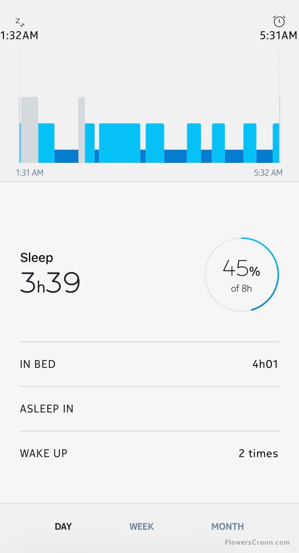 sleep tracking with health mate